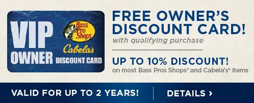 Bass Pro Shops / Cabela's VIP Owner Discount Card